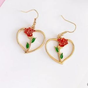 Beauty And The Beast Flower Earrings